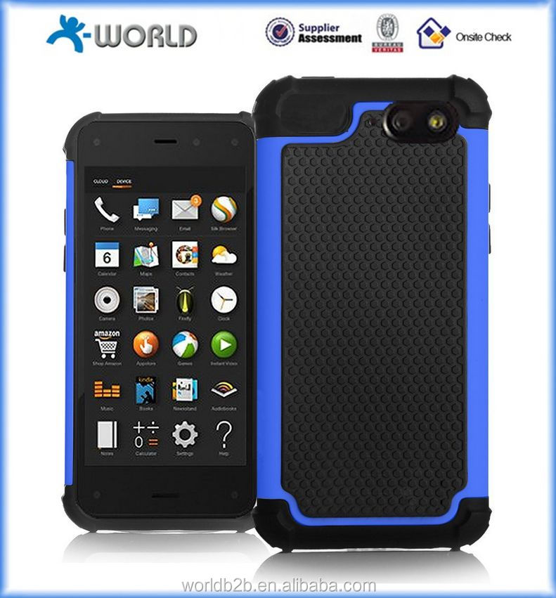 PC and silicon combo hybrid case for fire phone
