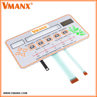 Customized Tactile Emobssed Waterproof Membrane Switch