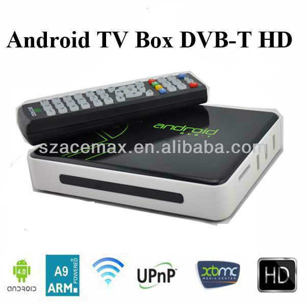 Android tv box with dvb-t receiver,PVR,Build in WiFi,ARM Cortex A9, Web Browser XBMC, HD