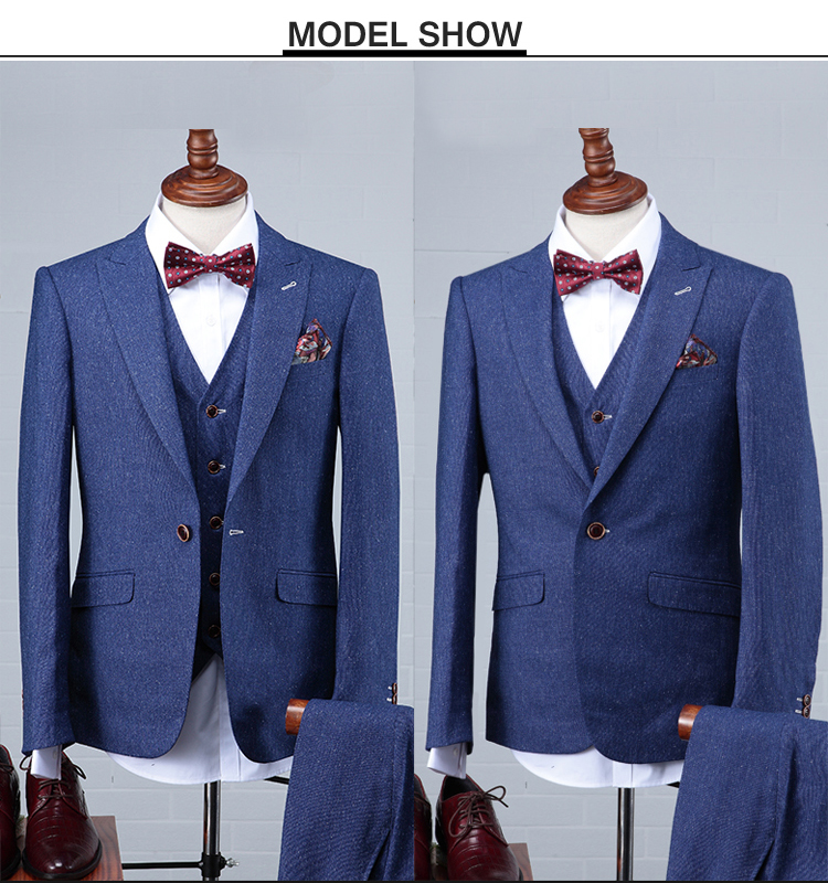 2016 latest design blue suit pant coat pant coat design men wedding suits pictures