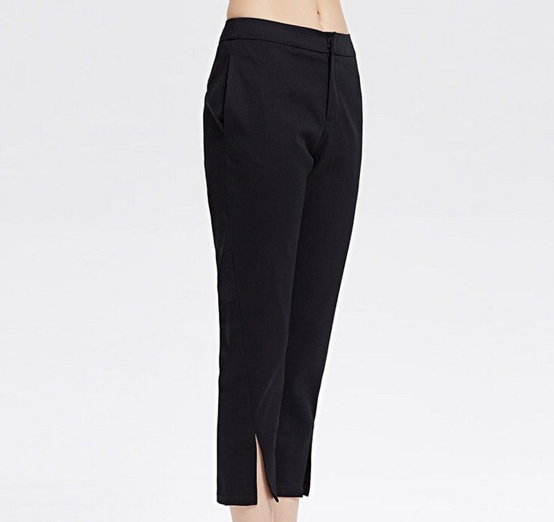 2016 Latest black long trousers for women