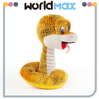 China Made Graceful Yellow Snake Promotional Baby Plush Toy