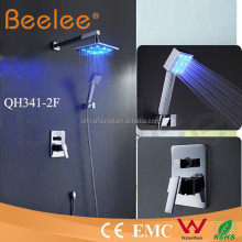 LED In Wall Concealed Bathroom Rainfall Shower Sets Bath Rain Shower