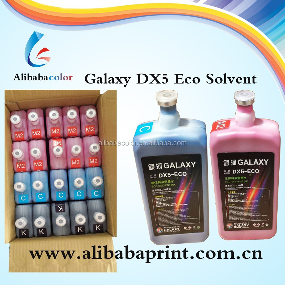 eco-solvent ink keep 24 months DX5/DX7 head ink galaxy eco solvent ink msds