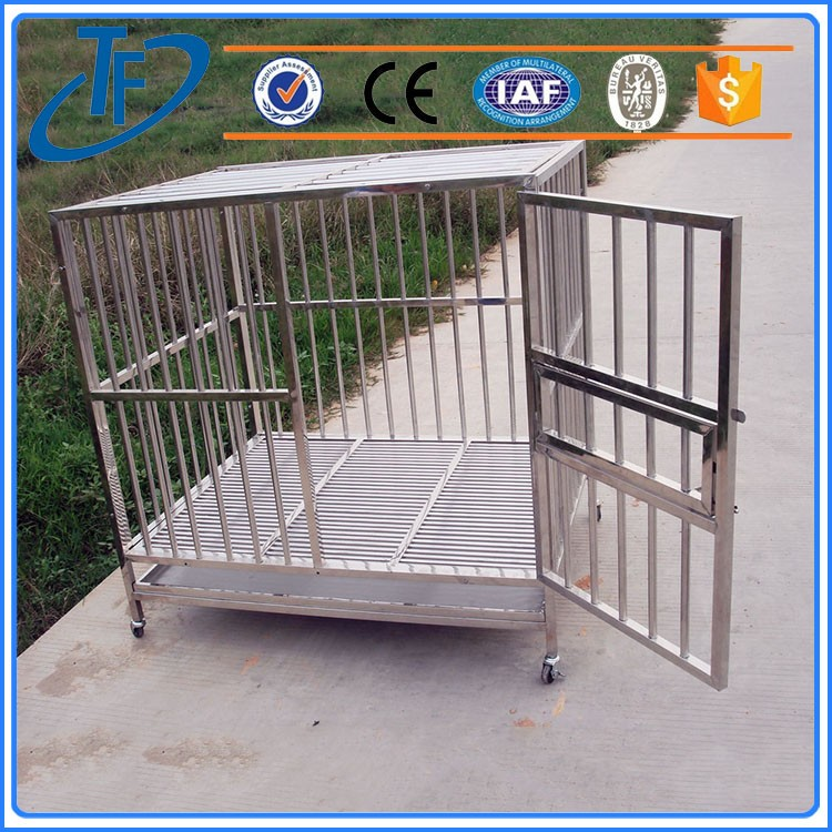 Factory Direct strong stainless steel dog cage , dog cage with lock