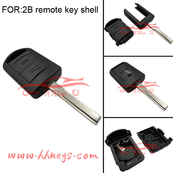 Car key Factory Opel HU43 Blade Car key shell replacement Opel 2 buttons remote car key no Chip and 2032 battery inside