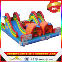Funny giant inflatable amusement toys, inflatable jumping trampoline with bouncer castle