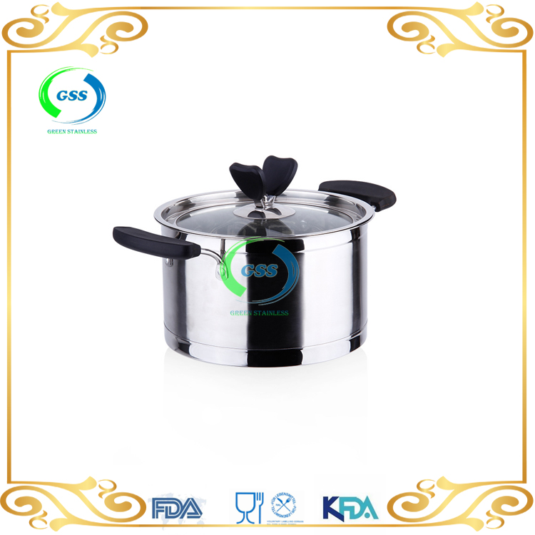 Hight quailty non-magnetic Stainless steel soup cookware/cooking pot with Bakelite handle