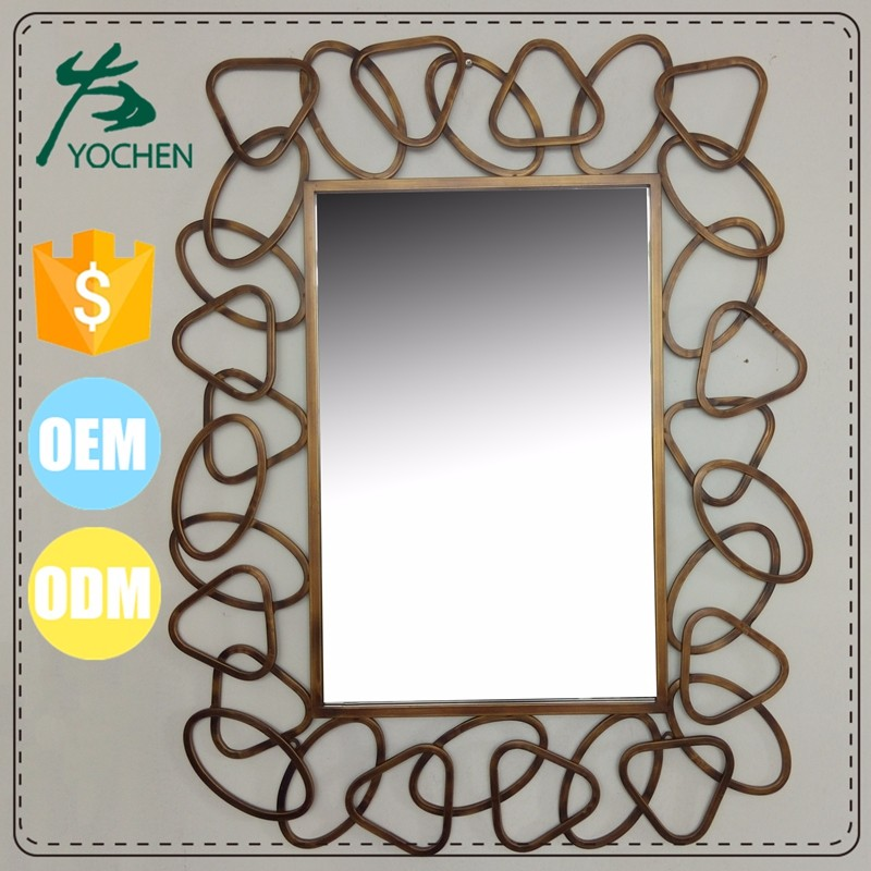 metal wall-mounted dressing mirror home decor