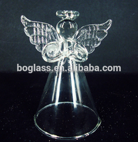 Clear glass angel for Christmas decoration from factory