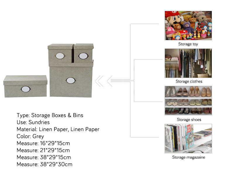 NAHAM whole price cardboard foldable paper storage box