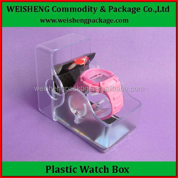 Mass produce plastic watch box cookie box/ luxury watch box / cheap cookie container