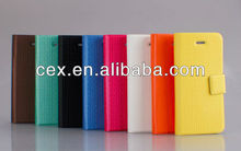 PU Leather Card Holder Magnetic Flip Cover Weave Net Case - Compatible for iPhone 5