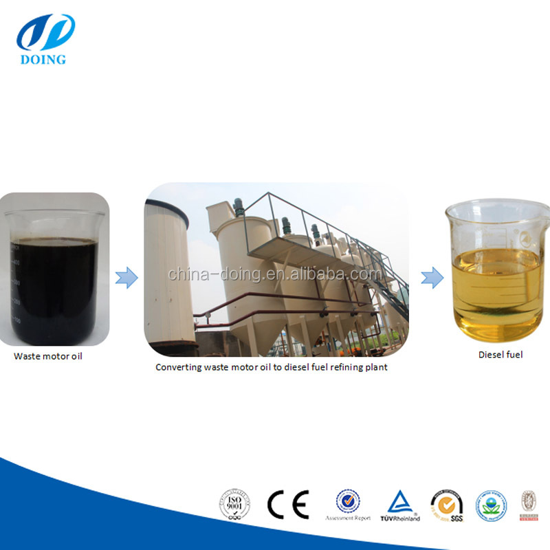 Black waste oil to diesel oil refinery for diesel and asphalt plant