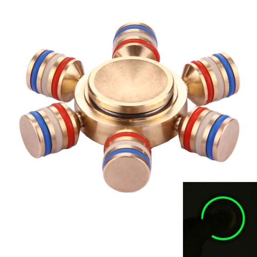 Most popular Metal Fidget Spinner Toy Stress Reducer Anti-Anxiety Toy with Fluorescent Light