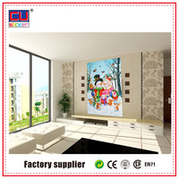 Custom Christmas removable tile wall sticker mirror decals glass door decor sticker