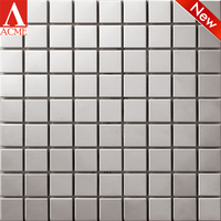 Square stainless steel mosaic tile for living room TV Background wall
