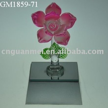Valentine's gifts/Mother's day gifts glass flower with led light