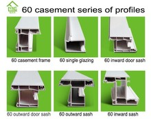 hot sale casement series of upvc profiles for windows and doors