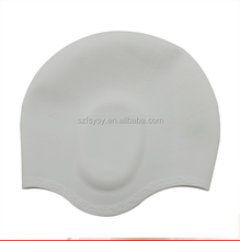 Factory Wholesale Adult Cool Designs Silicone Ear Protection Swim Cap