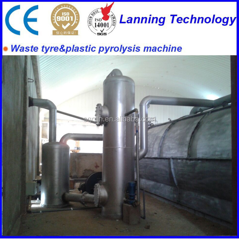LANNING SUPPLY Small USED TYRE PYROLYSIS MACHINE with X-ray test