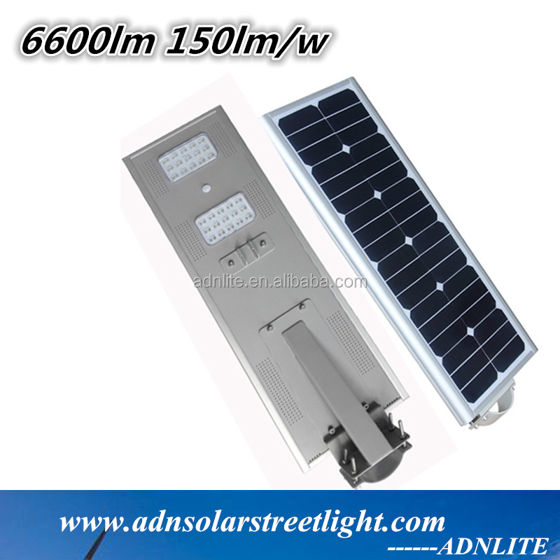 150lm/w 45w auto-sensing all in one solar street light system