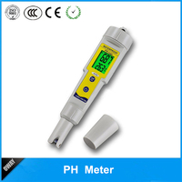 3-point automatic calibration high precision ATC replaceable ph electrode LCD ph testing meter