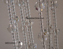 2015 IN STOCK 14mm 10 strands Crystal Clear passage wedding strands Crystal Clear Glass Bead window door curtain