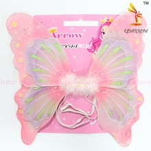 Party Decoration Sparkling Children Angel Wings Costume With Feather