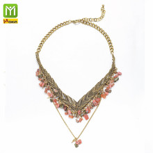 Zinc alloy fashion jewelry gold plated newest Statement Bib <strong>Necklace</strong>