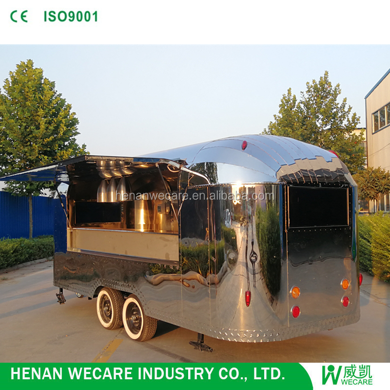 Henan Wecare mobile concession Airstream trucks for sale