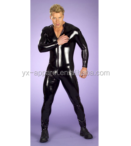 Exotic sexy men's leather catsuit