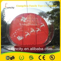ODM OEM service indoor and outdoor popular large inflatable snow globe , Christmas snow ball