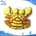100% pp stuffing kid toy cute soft crab stuffed 2015 high quality hot baby toys pendant