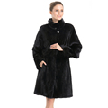 QD70805 China origin male mink removable sleeve 4XL basic type fur coat