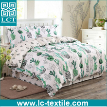 2017 ebay best selling Kactus Cactus Bed 100% cotton Linen Bedding Duvet Cover & Pillowcases Set