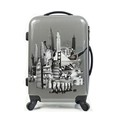 ABS PC Printed Film Wheeled Luggage Bag