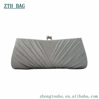 New arrival scallops fold vogue evening purse