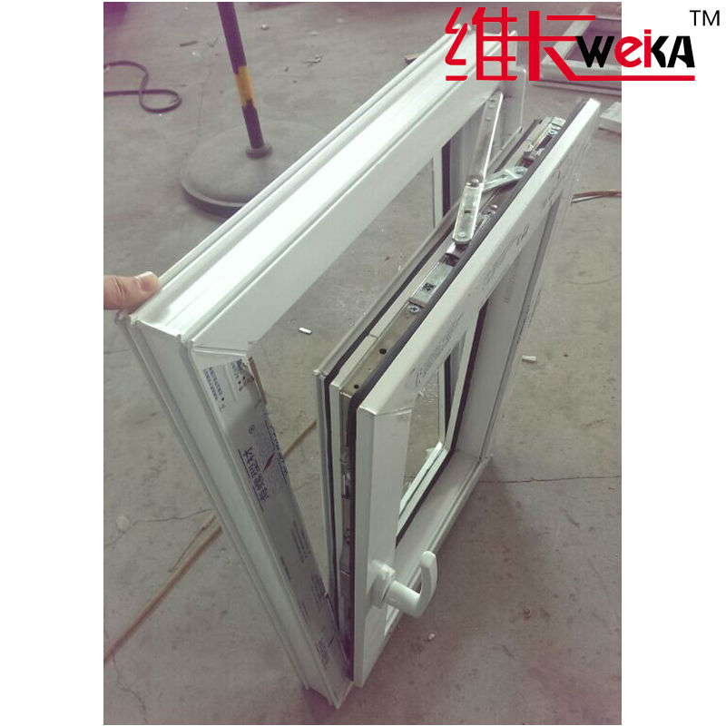 cheap PVC plantation tilt and turn casement windows