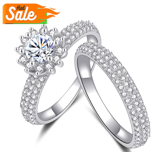 Latest design wholesale cheap prices custom value jewelry women wedding promise couple diamond 925 sterling silver ring