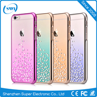Luxury Geniune Diomand Element Back Cover Case for iPhone 6s, Electroplating Hard PC Phone Case for iPhone 7