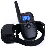 A+Trainer Blue Screen M:998DR-1 Waterproof Rechargeable Control Dog Training Collar with 100 Level of Vibration&Static Shock