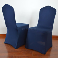 Navy cheap wedding spandex or lycra chair covers for sales