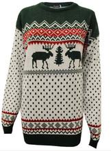 Women Mens Unisex Novelty Xmas Reindeer Pullover Tops Knitted Winter Christmas Jumper Sweater