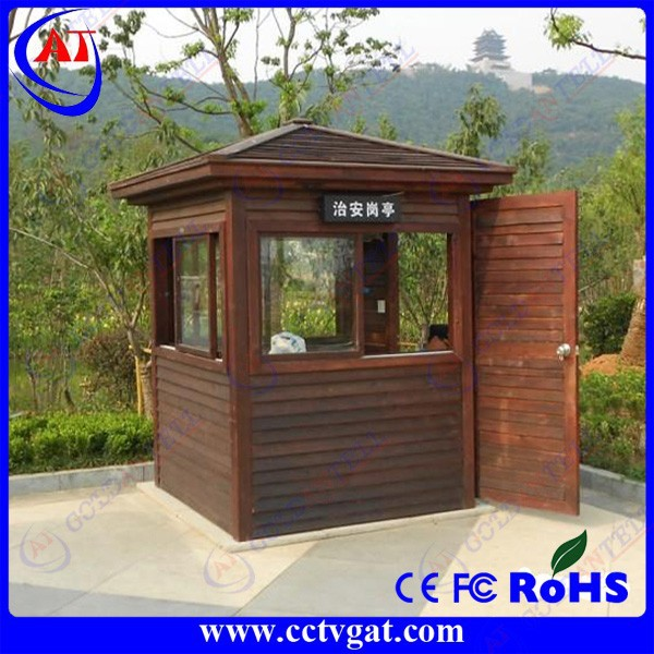 wooden made outdoor security guard house/prefabricated portable booth guard house for sale GAT-GT26