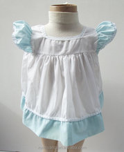 High quality little girl Fancy plain breathable baby dresses Frock design pictures for baby wear