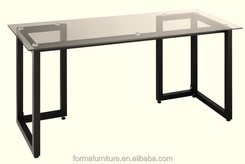 modern cheap glass top computer table