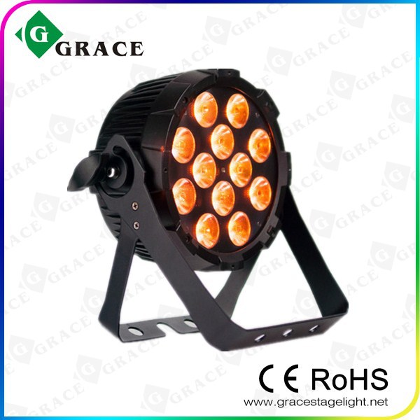 12*12W rgbwauv 6in1 indoor flat led par can