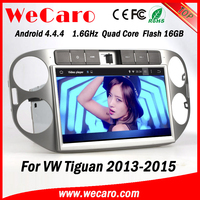 Wecaro WC-WT1013 Android 4.4.4 navigation 1024*600 touch screen car radio gps for vw golf 6 tiguan 2013 2014 2015 bluetooth