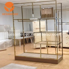 jewelry store counter display frame with cabinet